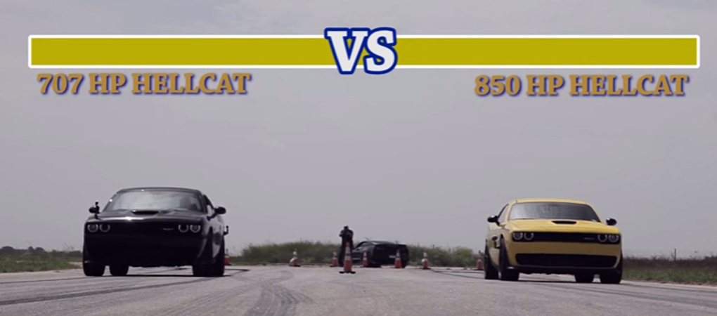 Stock Challenger Hellcat Goes Against HPE850 Hellcat – Guess Who Wins