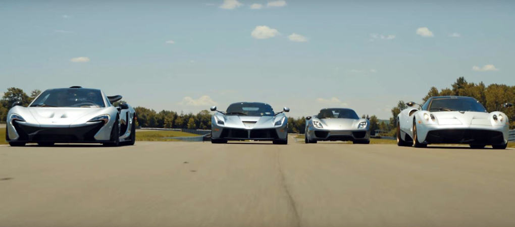 Holy Trinity With The Unholy Pagani Huayra On The Track