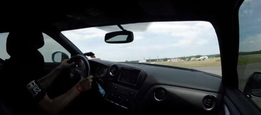 GT-R Crashed At 218 mph And This Is How It Looked From Inside