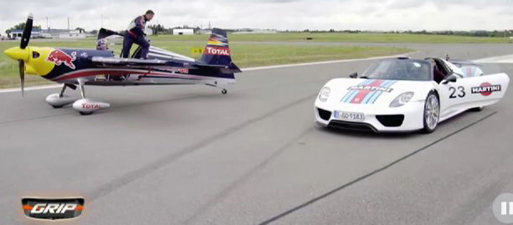 Porsche 918 Spyder Racing Red Bull Air Race Plane Is Exciting
