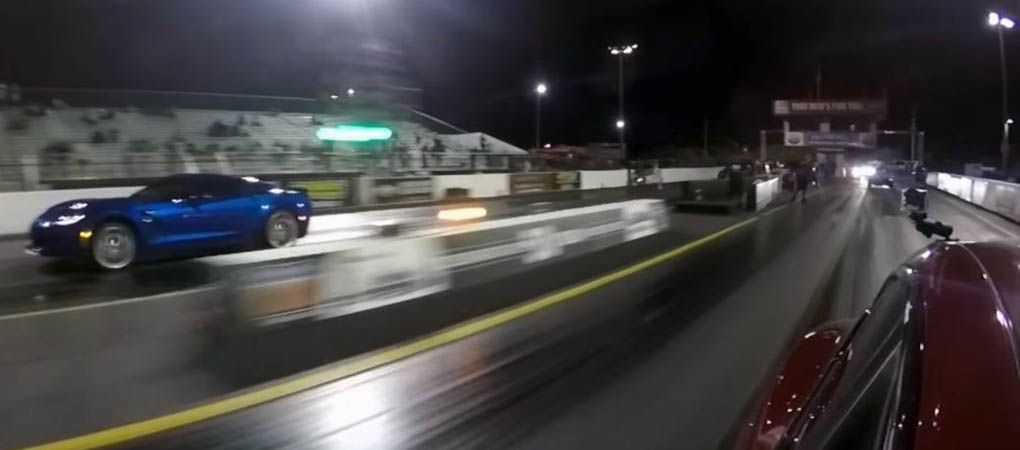 Tesla Model S P100D Destroys The Corvette Z06 On The Drag Strip